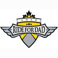 yellow and grey ride for dad logo
