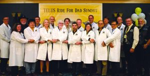ride for dad funded researchers linking arms