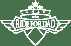Ride for Dad white logo