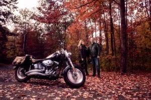 Sam & Martin horizontal with bike long shot