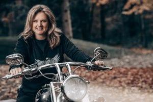 Samantha on bike