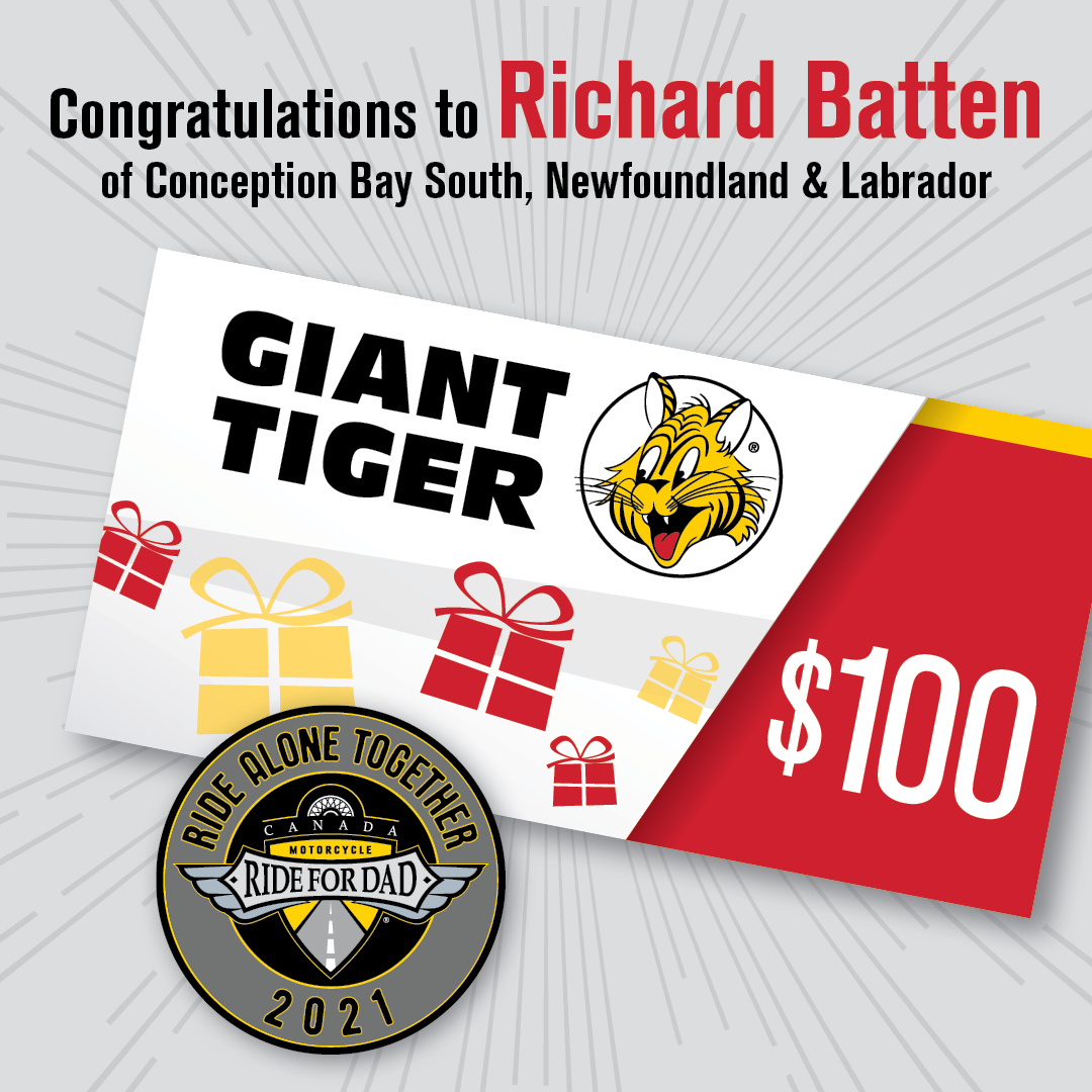 Giant Tiger Early Bird Prize Winner IG