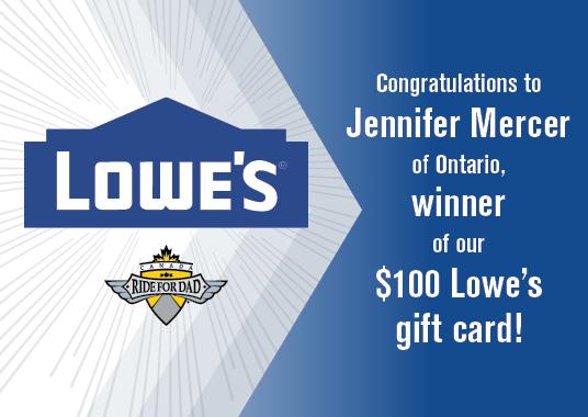 Lowes Gift Card Winner Slider